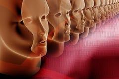 Porpora di affari una composizione rossa con il tema digitale Fotografie Stock