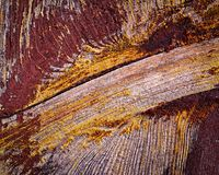 Porpora dipinta di legno Immagine Stock