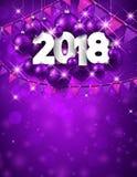 Porpora un fondo da 2018 nuovi anni Fotografia Stock