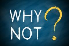 PORQUÉ NO con un signo de interrogación grande Imágenes de archivo libres de regalías