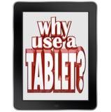 Porqué uso un dispositivo móvil de la libreta de la tableta Fotos de archivo libres de regalías