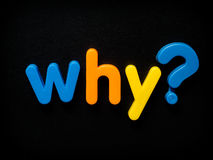 Porque pergunta Fotografia de Stock