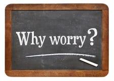 Porque pergunta da preocupação Imagens de Stock Royalty Free