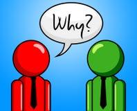 Porque a pergunta indica perguntas e resposta frequentemente feitas ilustração do vetor