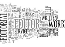 Porque seja os serviços do editorial importantes exprimem a nuvem ilustração royalty free