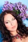 Porrait of beautiful young woman Royalty Free Stock Photos