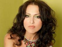 Porrait of beautiful young woman Stock Photo