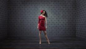 Porrait of a pretty, slim latin dancer Royalty Free Stock Image