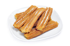 Porras, thick churros typical of Spain Stock Photography