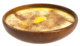 Porridge. Traditional Norwegian sour cream porridge, with butter, sugar and cinnamon Royalty Free Stock Photo