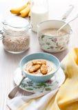 Porridge with bananas Royalty Free Stock Photo