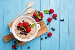 Porridge with berries Royalty Free Stock Image