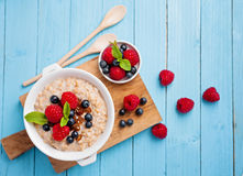 Porridge with berries Royalty Free Stock Images