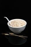Porridge on a black background Stock Images