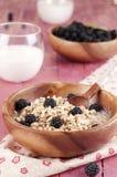 Porridge with blackberry Stock Photo