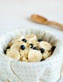 Porridge with blueberries. For breakfast Royalty Free Stock Photos