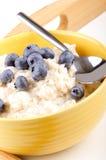 Porridge with blueberries Royalty Free Stock Photography
