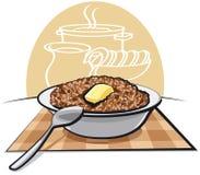 Porridge bollito del grano saraceno illustrazione di stock