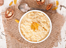 Porridge in a bowl Royalty Free Stock Photos