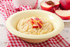 Porridge in a bowl Stock Image