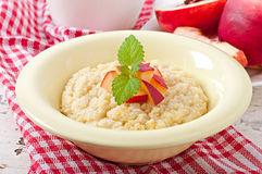 Porridge in a bowl Stock Photos