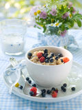 Porridge for breakfast Royalty Free Stock Image