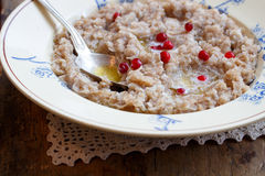 Porridge breakfast Stock Image