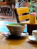Porridge caldo di mattina Fotografia Stock