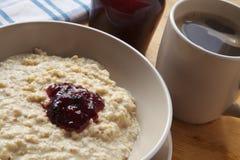 Porridge Coffee and Jam Royalty Free Stock Image