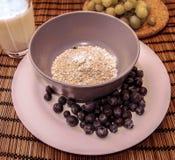 Porridge con frutta Fotografie Stock Libere da Diritti