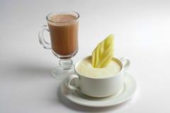 Porridge con il melone affettato Immagini Stock Libere da Diritti
