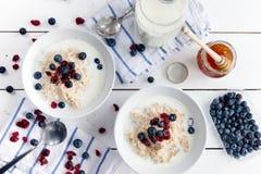 Porridge with cranberries Royalty Free Stock Photo