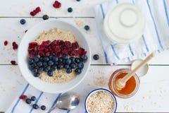 Porridge with cranberries Royalty Free Stock Images