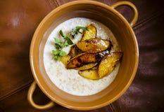 Porridge dei fiocchi di avena Fotografie Stock Libere da Diritti