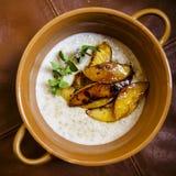 Porridge dei fiocchi di avena Immagini Stock Libere da Diritti
