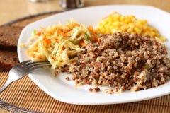 Porridge del grano saraceno immagini stock libere da diritti