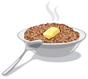 Porridge del grano saraceno con burro illustrazione vettoriale