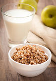 Porridge del grano saraceno in una ciotola Immagine Stock Libera da Diritti