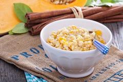 Porridge del miglio della zucca Fotografia Stock