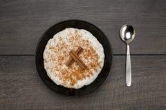 Porridge del riso Fotografia Stock