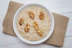 Porridge dell'avena Immagini Stock