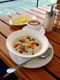 Porridge dell'avena Fotografie Stock