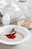 Porridge della crusca dell'avena Fotografia Stock