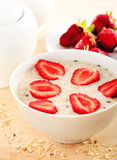 Porridge della farina d'avena Fotografia Stock