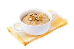 Porridge della farina d'avena. Isolato Fotografia Stock Libera da Diritti