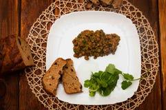 Porridge della lenticchia fotografie stock