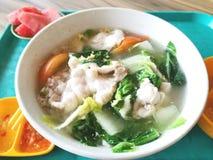 Porridge della minestra del pesce fotografie stock
