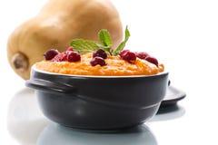 Porridge della zucca Fotografie Stock Libere da Diritti