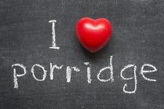 Porridge di amore Fotografie Stock Libere da Diritti