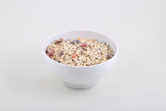 Porridge with dried fruits and nuts Royalty Free Stock Image